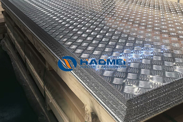 Aluminum checker plate for elev floor